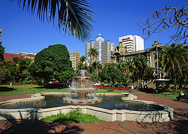 Fountain in small park near City Hall, Durban, Natal, South Africa, Africa - 365-2874