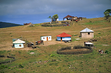 Hillside Xhosa village in the former Ciskei, Cape Province, South Africa, Africa - 365-2948