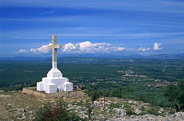 Summit of the Hill of the Cross, Krizevac, Medjugorje, Bosnia Herzegovina, Europe - 365-3030