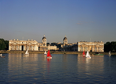 Royal Naval College, Greenwich, UNESCO World Heritage Site, London, England, United Kingdom, Europe