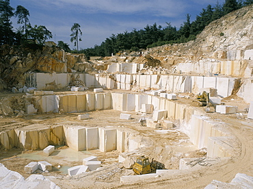 Marble quarry, Greece, Europe