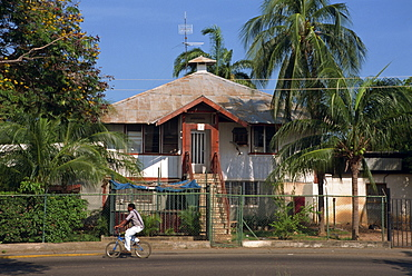 A typical house with corrugated roof at Lake Maracaibo, Venezuela, South America