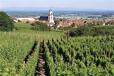 St. Hippolyte village, Route de Vin, Haut-Rhin, Alsace, France, Europe