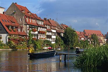 Little Venice, fishermens houses on River Regnitz, Bamberg, UNESCO World Heritage Site, Bavaria, Germany, Europe