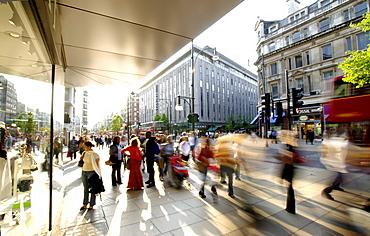 Oxford Street pedestrians, London, England, United Kingdom, Europe