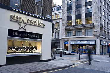 The jewelry district of Hatton Garden, London, England, United Kingdom, Europe