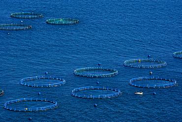 Fish farm, Costa Aguilera, Andalucia (Andalusia), Spain, Mediterranean, Europe