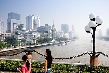 River and cityscape, Guangzhou (Canton), Guangdong, China, Asia
