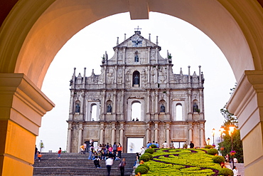 St. Paul's cathedral facade, Macau, China, Asia