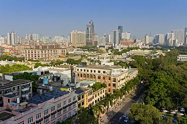 Shamian Island cityscape, Guangzhou, Guangdong, China, Asia