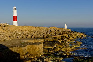 Portland Bill lighthouse, Jurassic Coast, UNESCO World Heritage Site, Dorset, England, United Kingdom, Europe