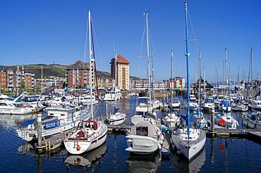 Swansea Marina docks, Wales, United Kingdom, Europe