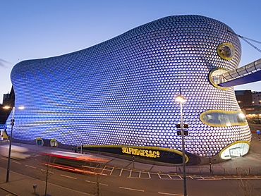 Selfridges at dusk, Birmingham, England, United Kingdom, Europe
