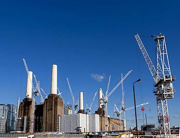 Battersea Power Station being redeveloped, London, England, United Kingdom, Europe