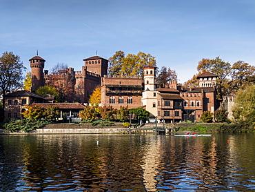 Borgo Medievale fortress, Parco del Valentino, Turin, Piedmont, Italy, Europe