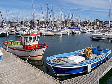 Harbour and waterfront of Piriac, Morbihan, Brittany, France, Europe