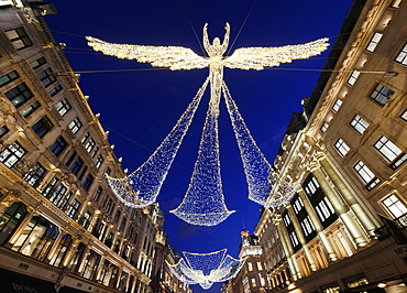 Regent Street Christmas lights, London, England, United Kingdom, Europe