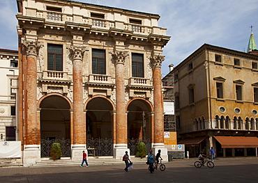 Loggia del Capitaniato, Vicenza, UNESCO World Heritage Site, Veneto, Italy, Europe