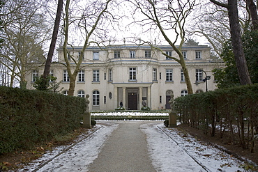 View from main drive of The Final Solution villa at Wannsee, Berlin, Germany, Europe