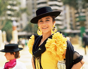 Woman at the festival, Jerez, Andalucia, Spain, Europe