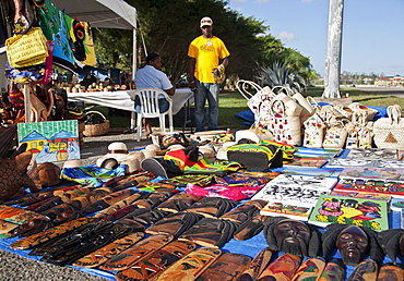 Display of souvenirs for sale, Montego Bay, Jamaica, West Indies, Caribbean, Central America