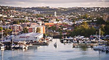 City skyline, Fort-de-France, Martinique, Lesser Antilles, West Indies, Caribbean, Central America
