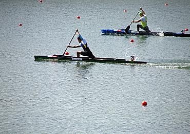 London 2012 Olympics Canoe Sprint event, Eton Dorney, Buckinghamshire, England, United Kingdom, Europe