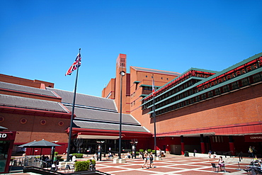 The British Library scourtyard, Euston Road, London, England, United Kingdom, Europe