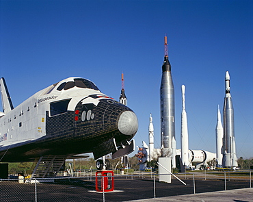 Retired shuttle and rockets, Kennedy Space Center, Florida, United States of America, North America