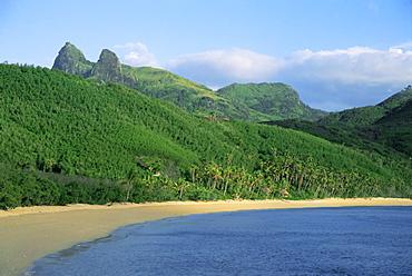 Beach and coastline, Waya Island, Yasawa Islands, Fiji, South Pacific islands, Pacific