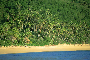 Beach and coast, Waya Island, Yasawa group, Fiji, South Pacific islands, Pacific