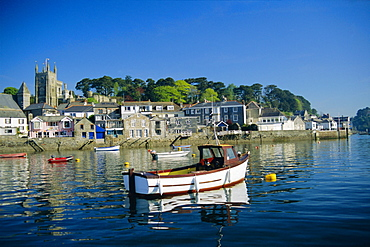 Waterfront, Fowey, Cornwall, England, UK, Europe