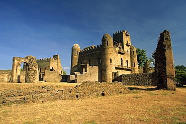 The Royal Enclosure of Fasil's Castle, UNESCO World Heritage Site, Gondar, Ethiopia, Africa