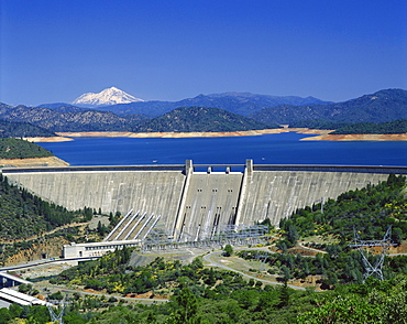 Hydro-electric dam, California, United States of America, North America