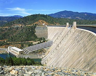 The Redding Shasta Dam in California, United States of America, North America