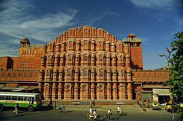 The facade of the Palace of the Winds (Hawa Mahal), Jaipur, Rajasthan, India, Asia