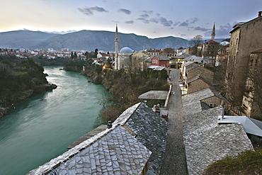Old Town, Mostar, UNESCO World Heritage Site, Bosnia, Bosnia Herzegovina, Europe