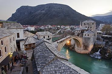 Stari Most Bridge, Mostar, UNESCO World Heritage Site, Bosnia, Bosnia Herzegovina, Europe