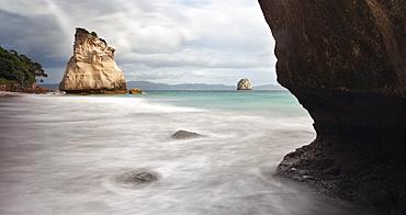 Rock outcrops at Cathedral Cove, Coromandel Peninsula, North Island, New Zealand, Pacific