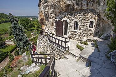 Rock Monastery St. Dimitar Basarbovski dating from the 12th century, UNESCO World Heritage Site, Ivanavo, Bulgaria, Europe