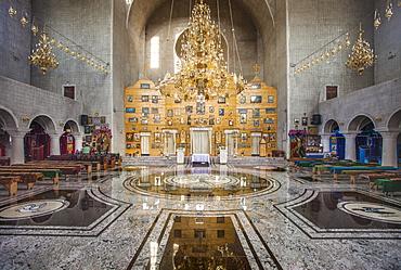 Interior of Romanian Orthodox Cathedral, Fagaras, Transylvania, Romania, Europe