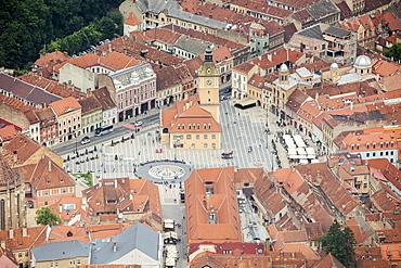 Old Market Square from Mount Tampa, Brasov, Transylvania, Romania, Europe