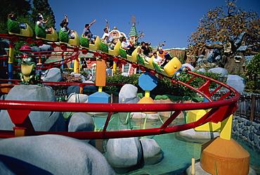Rollercoaster in Mickey's Toontown, Disneyland, Los Angeles, California, United States of America, North America