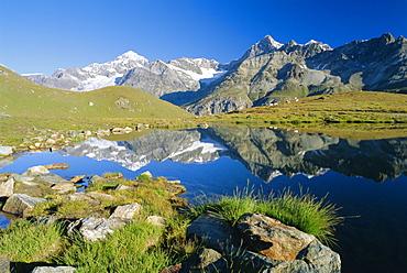 The Dent Blanche and Ober Gabelhorn, Zermatt, Valais, Switzerland, Europe