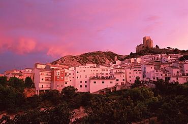 Velez Blanco at sunset, Almeria, Andalusia (Andalucia), Spain, Europe - 390-2527