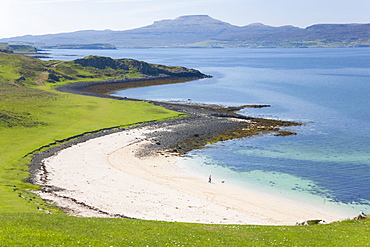 View over Coral Beach and Loch Dunvegan, Claigan, near Dunvegan, Isle of Skye, Inner Hebrides, Highland, Scotland, United Kingdom, Europe