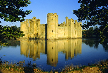 Bodiam Castle from the southeast, East Sussex, England, UK, Europe