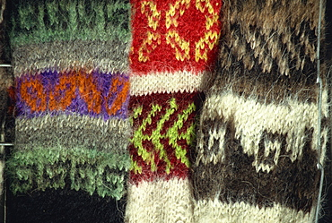 Llama and alpaca wool goods, Witchcraft Alley, La Paz, Bolivia, South America