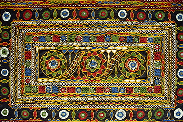 Close-up of Rajasthani embroidery, Rajasthan state, India, Asia