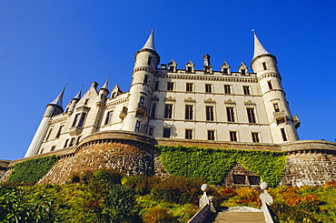 Dunrobin Castle and grounds, near Golspie, Sutherland, Highlands Region, Scotland, UK, Europe - 395-189